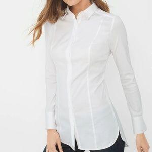 NWT White House Black Market Long Popplin Shirt